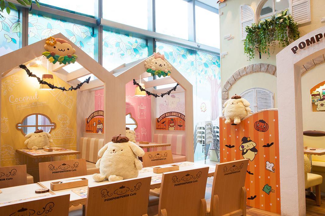 quán cafe ở singapore: quán pompompurin