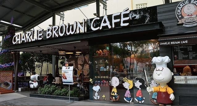quán cafe ở singapore: charlie brown cafe