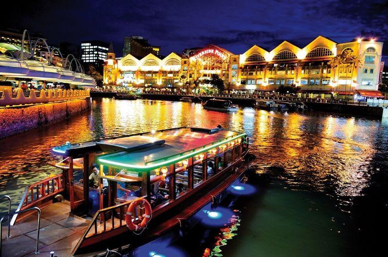 cuối tuần ở singapore: ăn tối ở boat quay