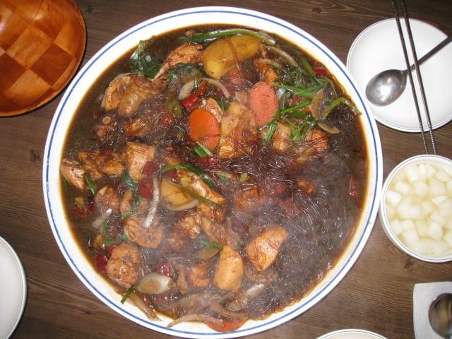 thăm hàn quốc dịp tết trung thu: thịt gà om chua cay