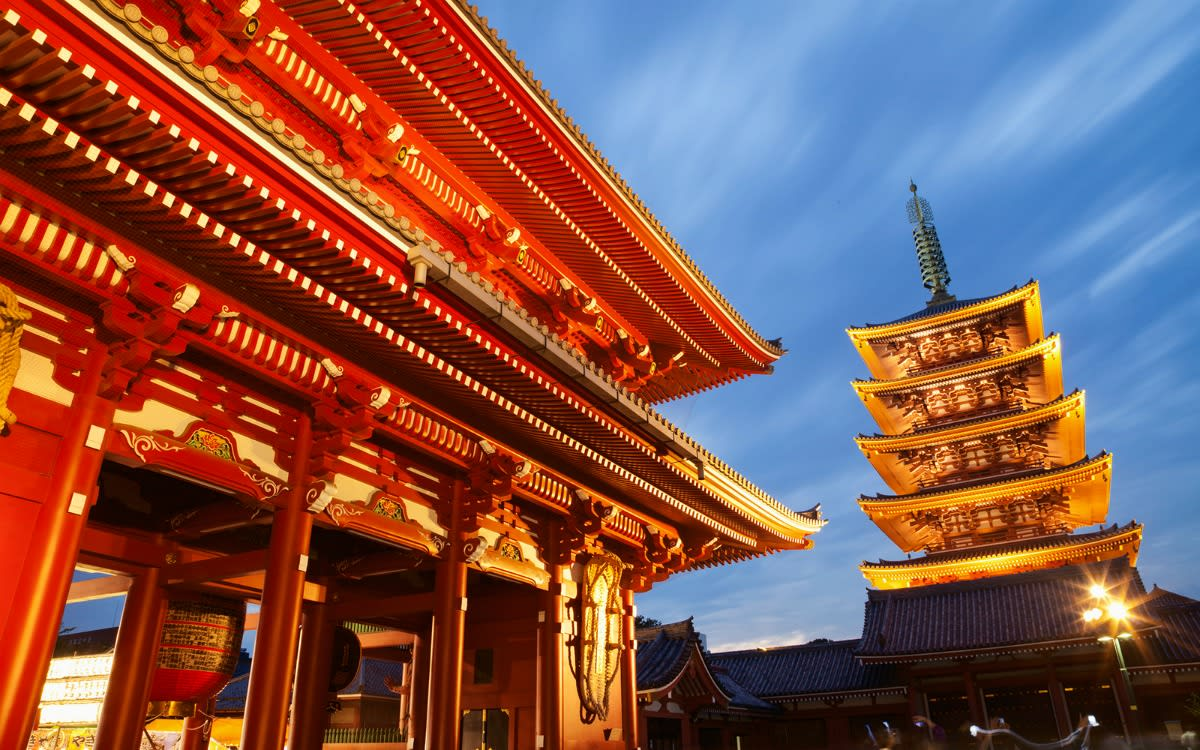 chùa asakusa ở tokyo