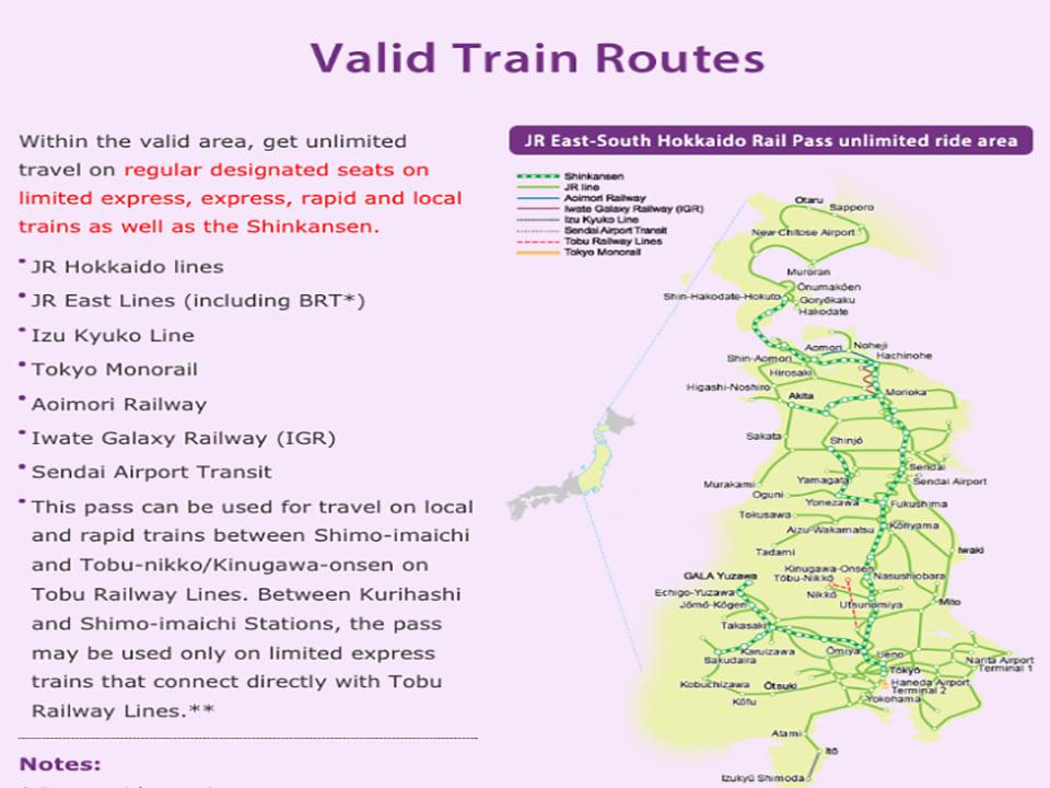 hướng dẫn sử dụng jr pass khu vực hokkaido: thành phố có thể đi bằng jr pass hokkaido 6 ngày