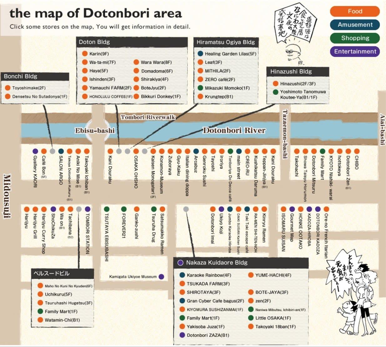 72 giờ ở osaka: bản đồ dotonbori