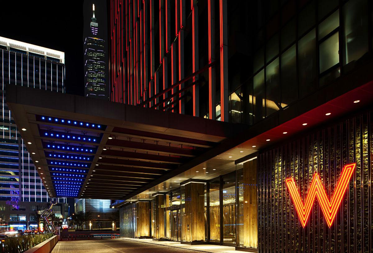 khách sạn W Taipei là một nơi để ngắm đài bắc về đêm