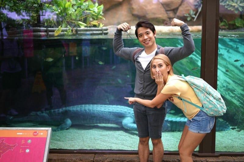 khám phá river safari với cá sấu ấn độ