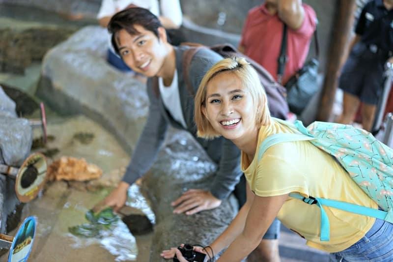 khám phá river safari với con sam ở hồ tương tác