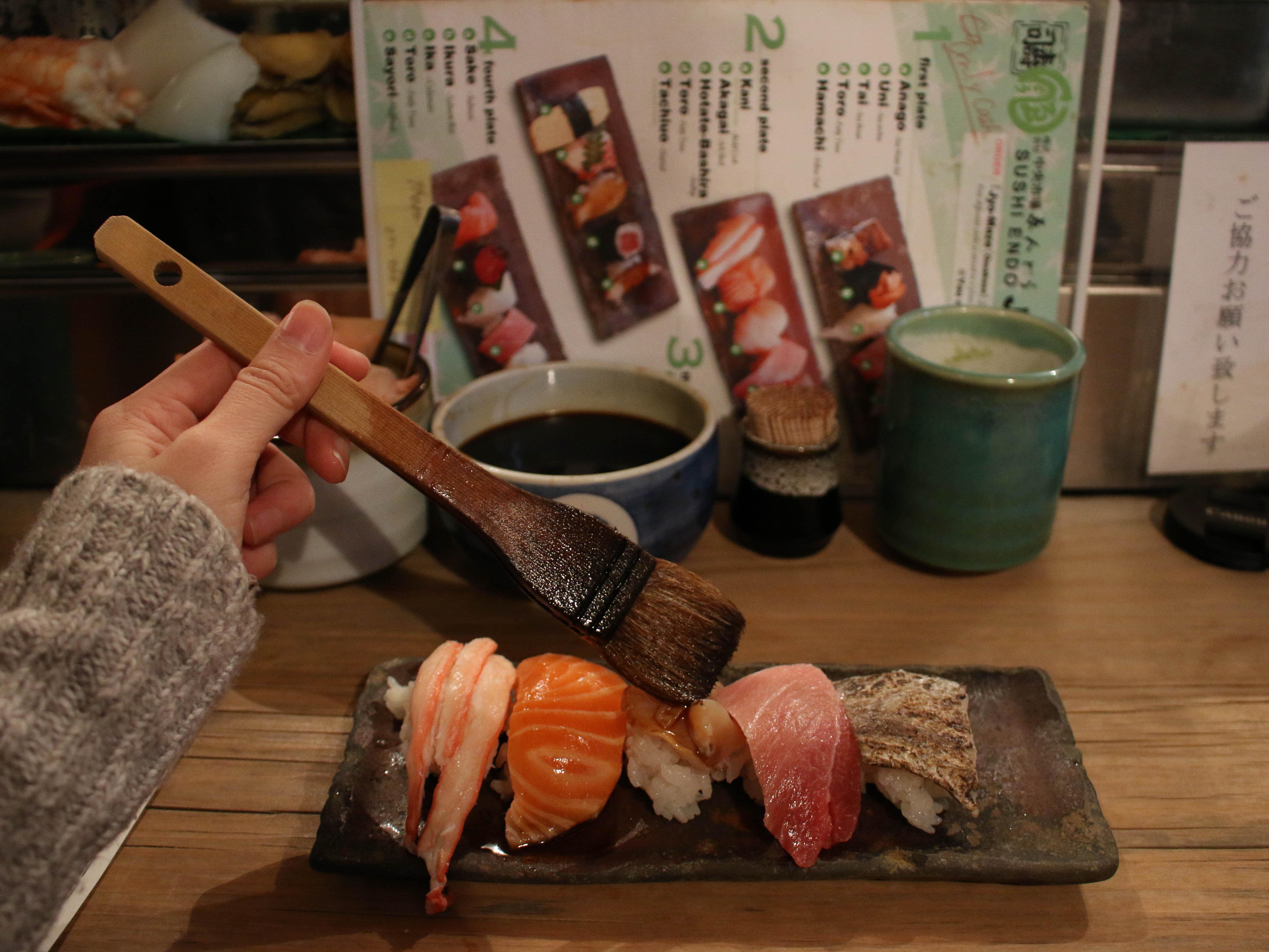 ẩm thực osaka: sushi endo
