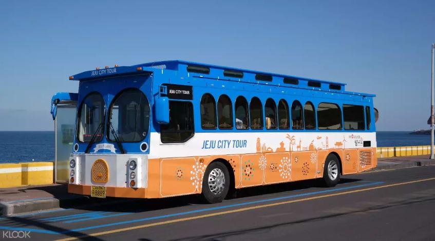 xe buýt tại đảo jeju