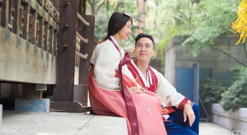 chụp ảnh với hanbok hàn quốc