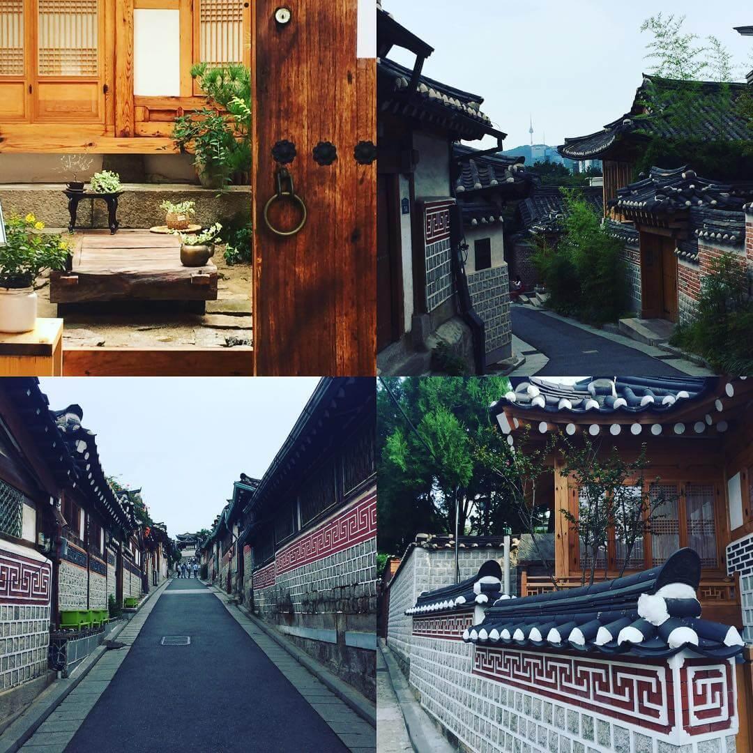 làng hanok là một địa điểm du lịch mùa trung thu