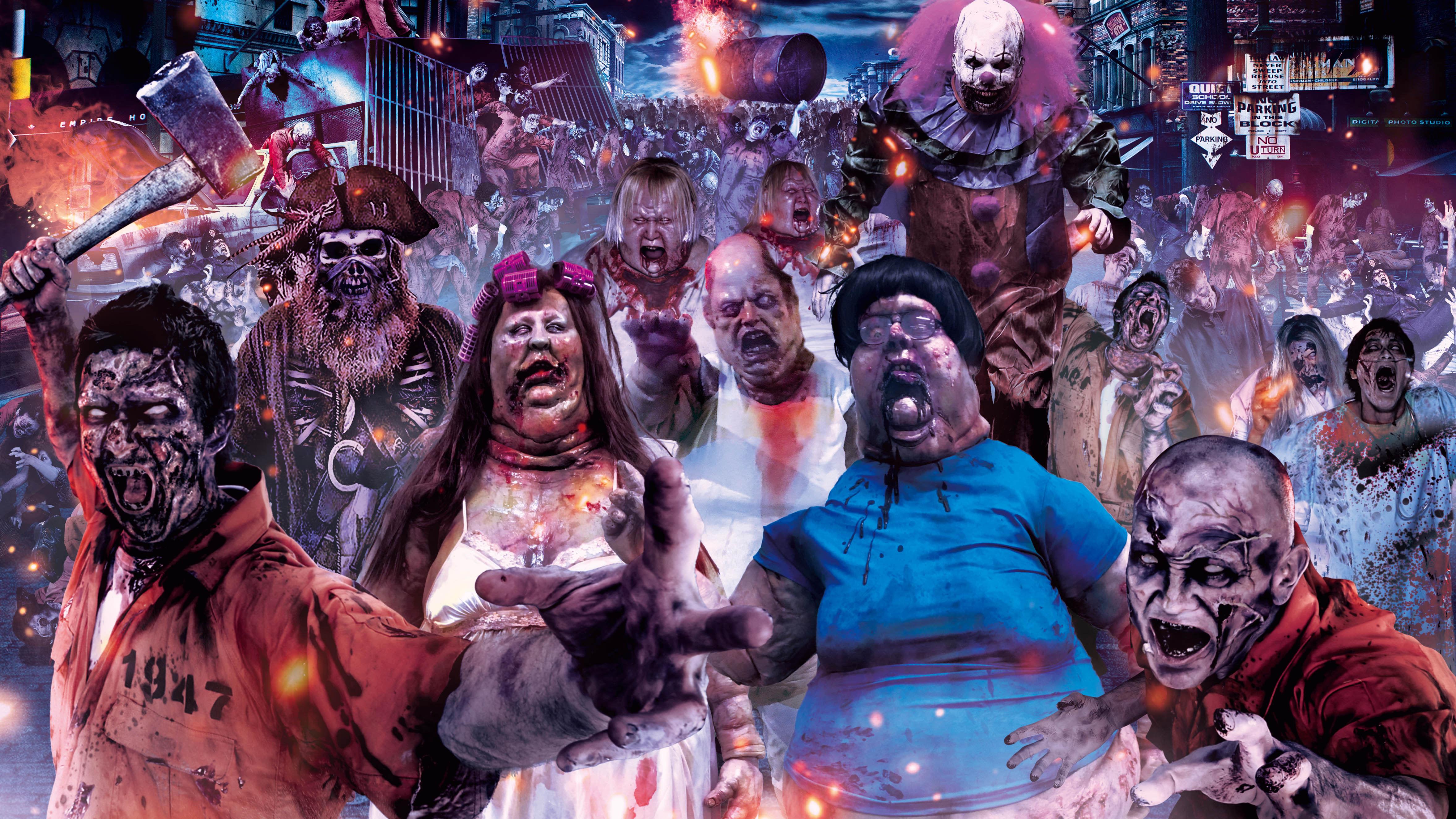halloween tại universal studios nhật bản: street zombies