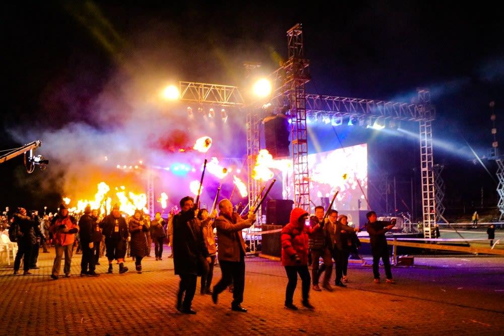 lễ hội lửa ở đảo jeju  là một trong 10 lễ hội ở hàn quốc bạn phải tham gia
