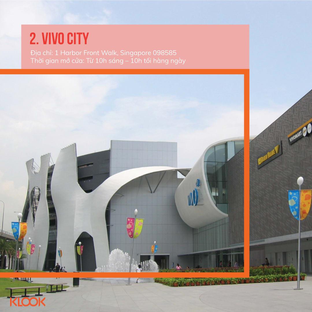 vivo city là một trong 7 khu mua sắm ở singapore bạn phải đi trong dịp giảm giá
