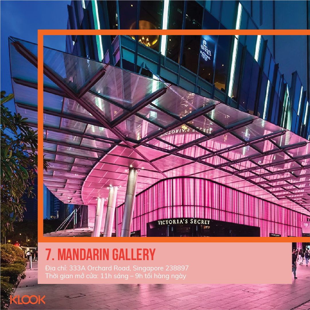 mandarin gallery là một trong 7 khu mua sắm ở singapore bạn phải đi trong dịp giảm giá