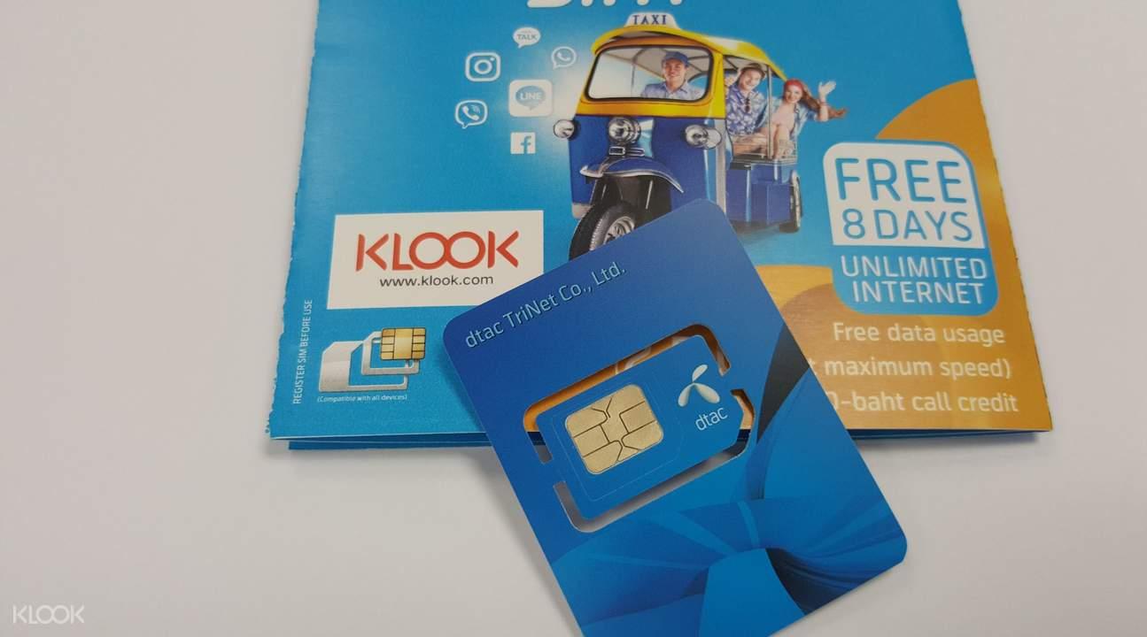 thẻ sim lấy tại sân bay BKK