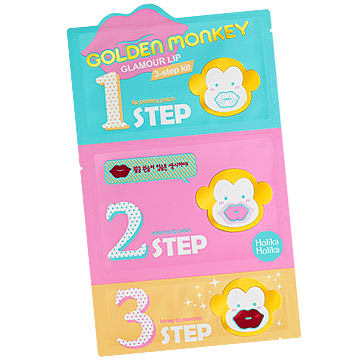 mua sắm ở myeongdong: Golden Monkey Glamour Lip 3-Step Kit