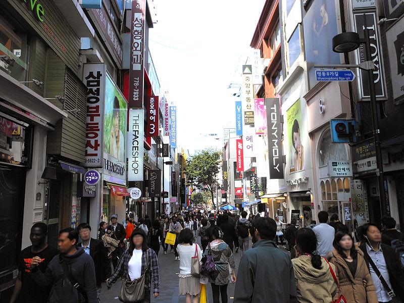 mua sắm ở myeongdong