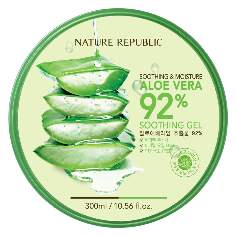 mua sắm ở myeongdong: Soothing and Moisture Aloe Vera 92% Soothing Gel