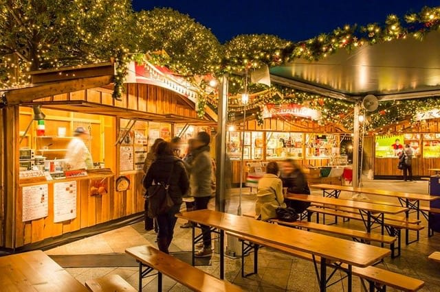 chợ giáng sinh tại tokyo: ebisu garden place