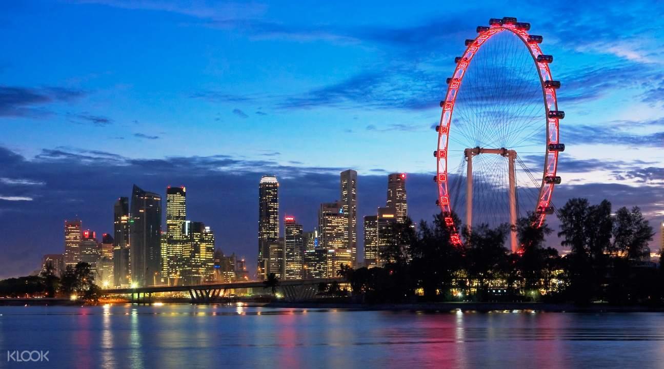 trải nghiệm singapore flyer
