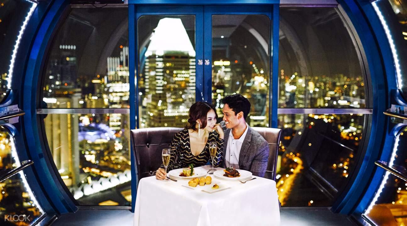 trải nghiệm singapore flyer: dùng bữa trên cao