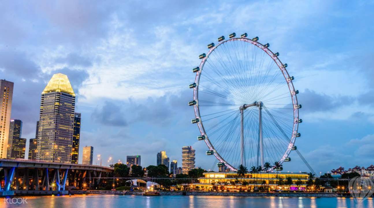 trải nghiệm singapore flyer: nhìn từ xa