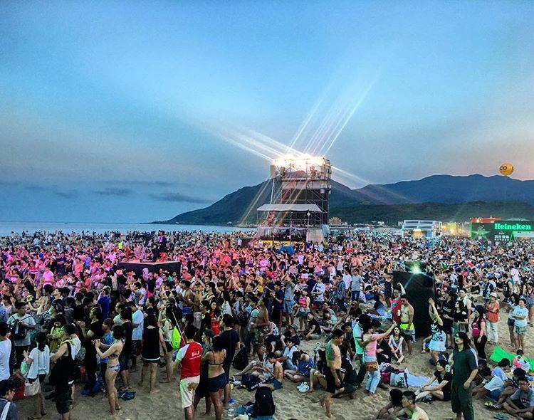 tham gia liên hoan nhạc rock liaogong hohaiyan khi du lịch tự túc đài loan