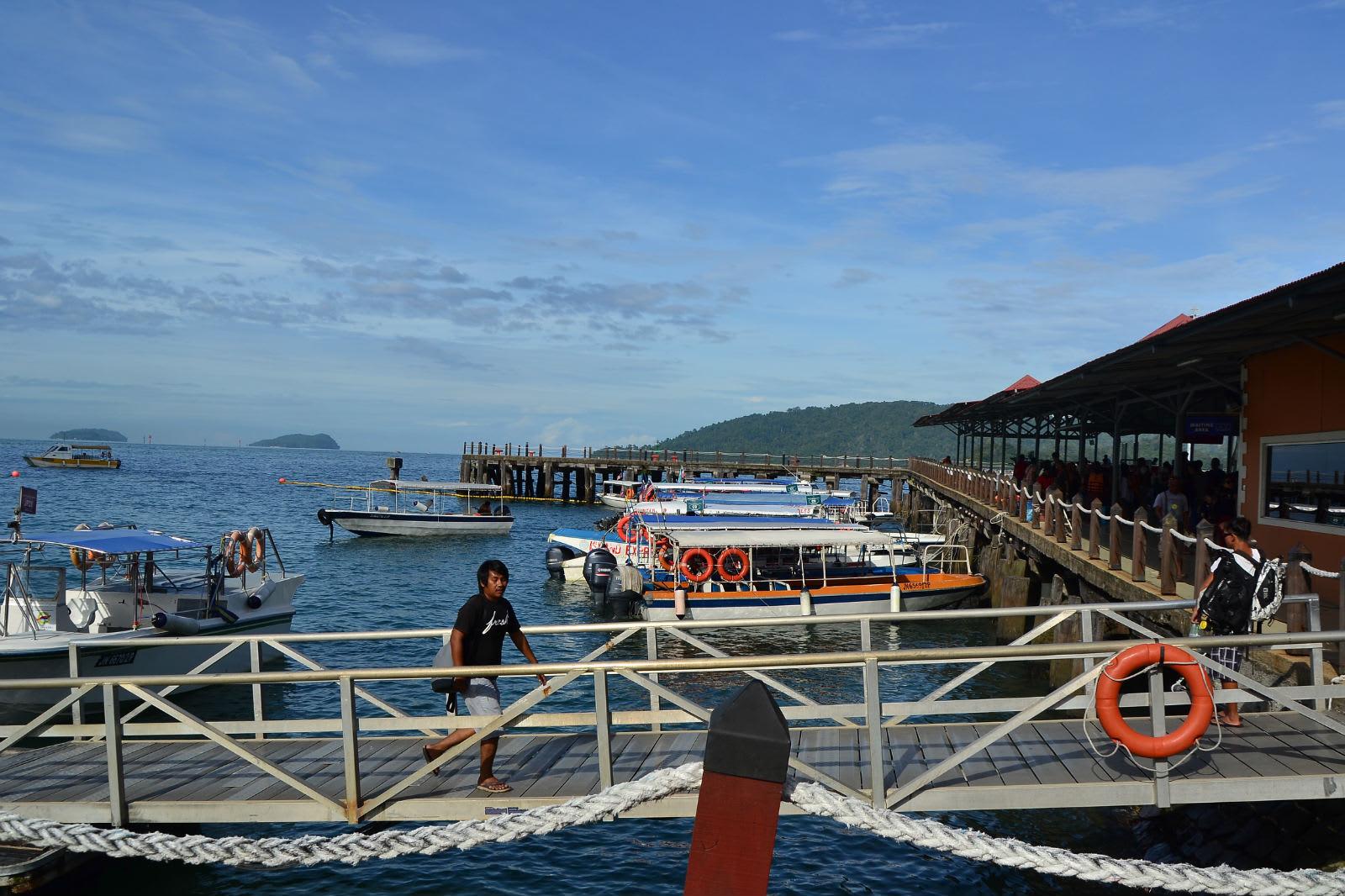 du lịch kota kinabalu - cảng ra đảo