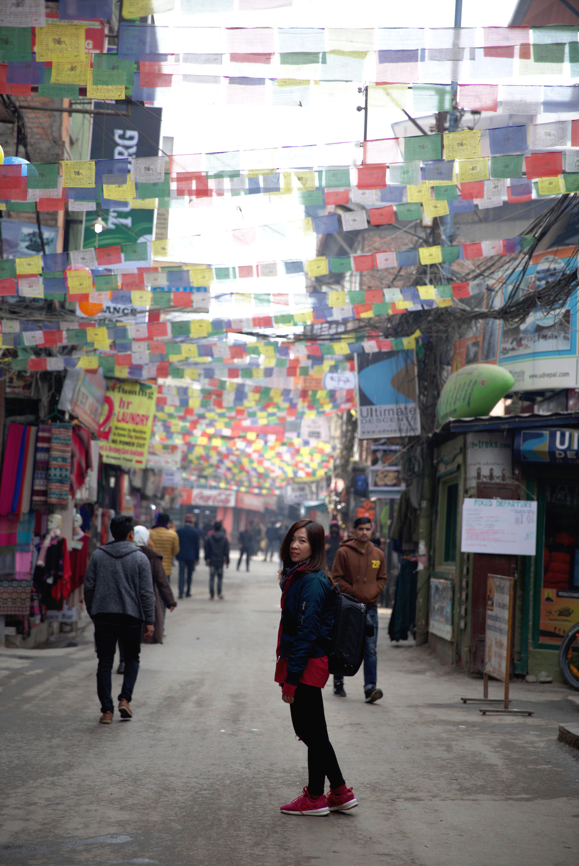 du lịch nepal: một góc phố thamel