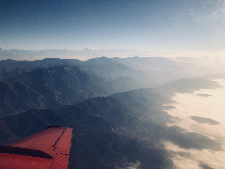 du lịch nepal: ảnh chụp từ simrik airline