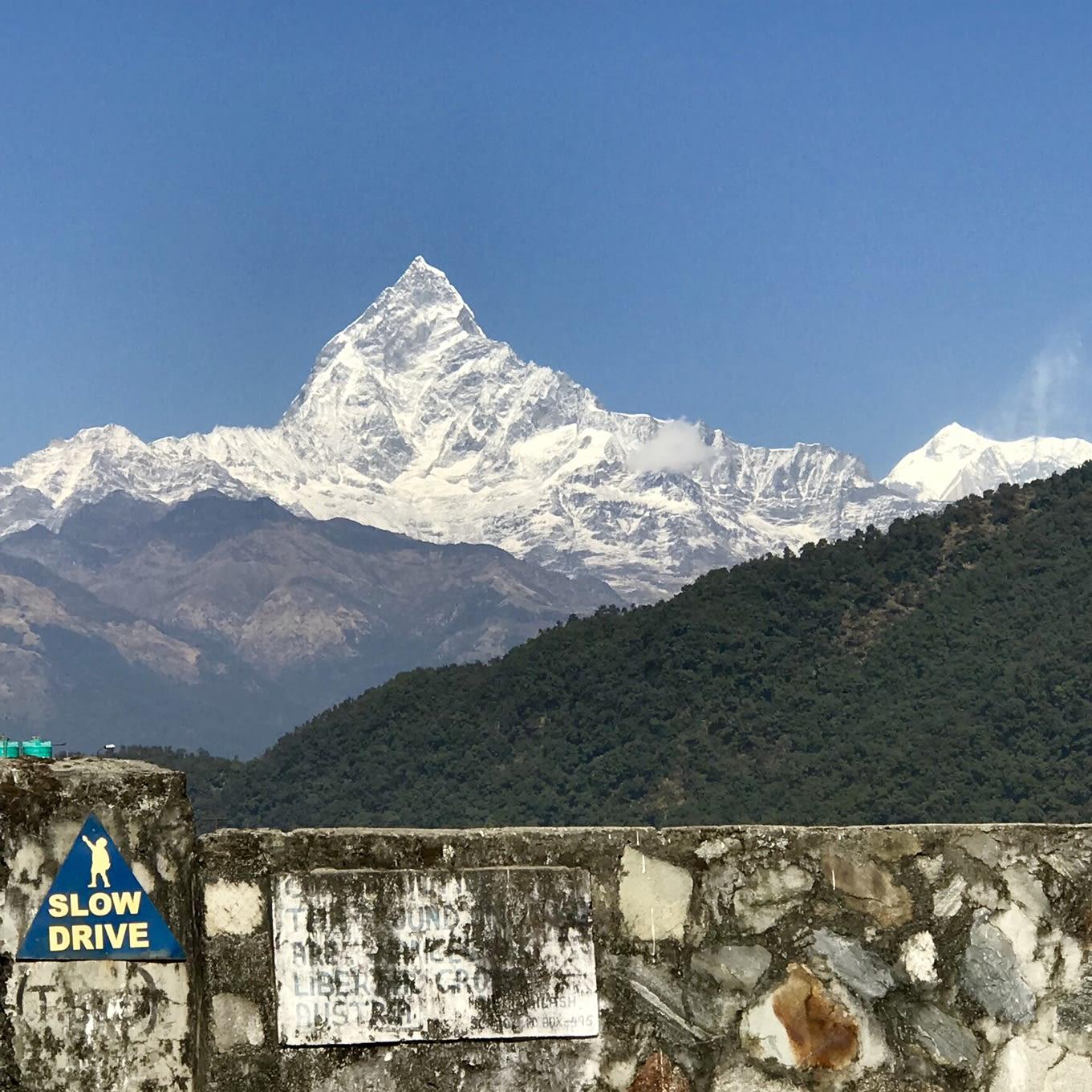 du lịch nepal: đỉnh fishtail