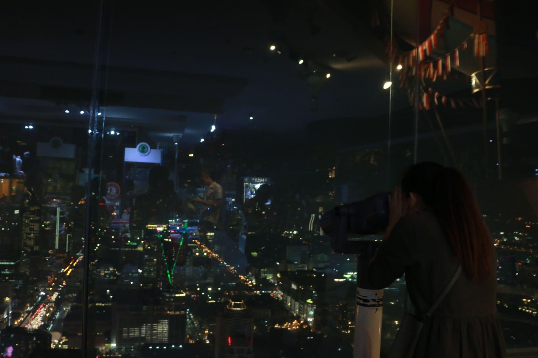 cảnh nhìn từ khách sạn baiyoke trong chuyến du lịch thái lan 4 ngày 3 đêm