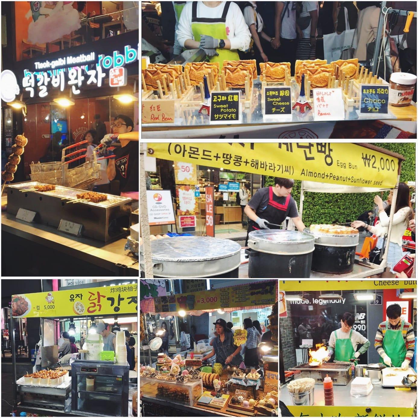 ăn gì ở seoul - ẩm thực đường phố myeongdong