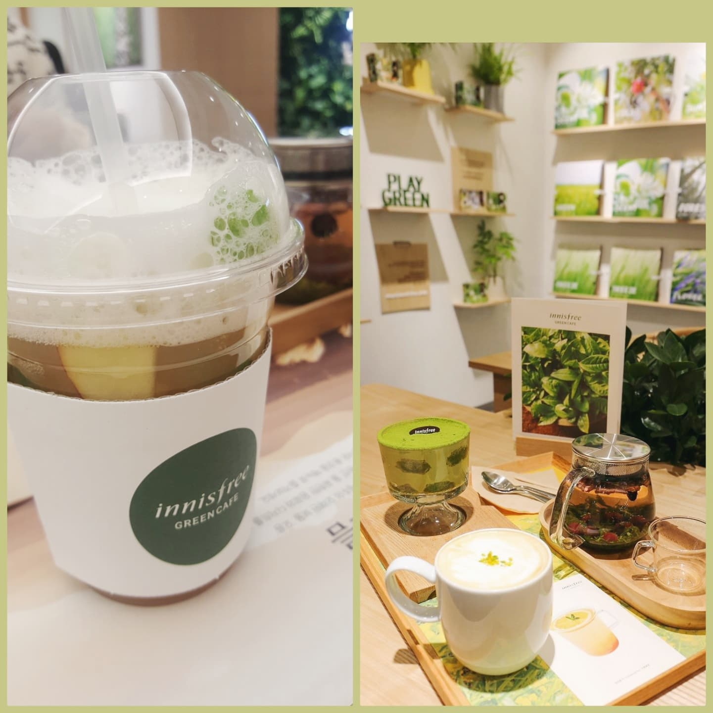 ăn gì ở seoul - innisfree green cafe