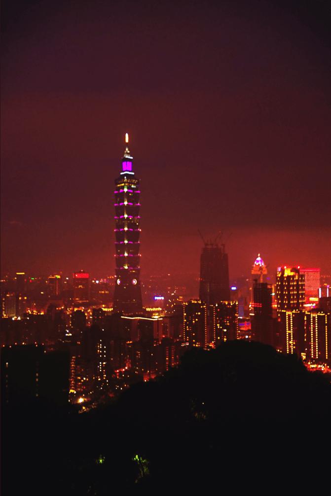 ngắm cảnh từ Xiangshan trong chuyến du lịch đài bắc