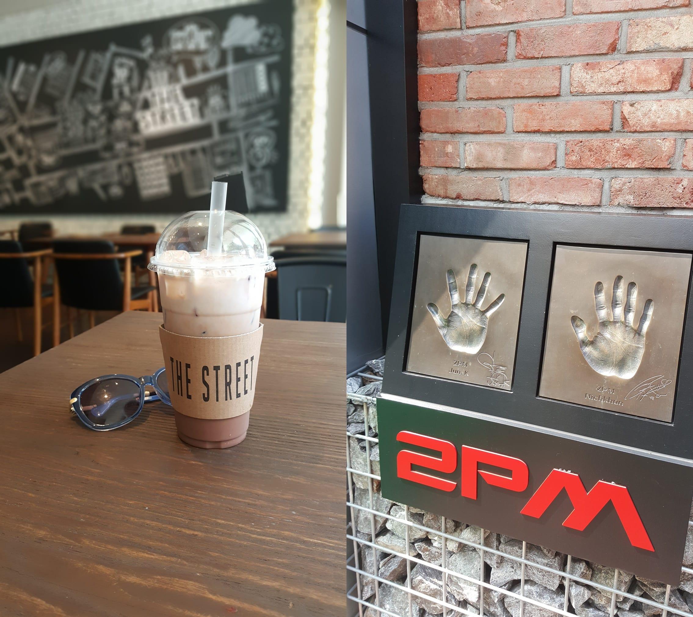 giải khát tại the street cafe bistro khi đi du lịch seoul