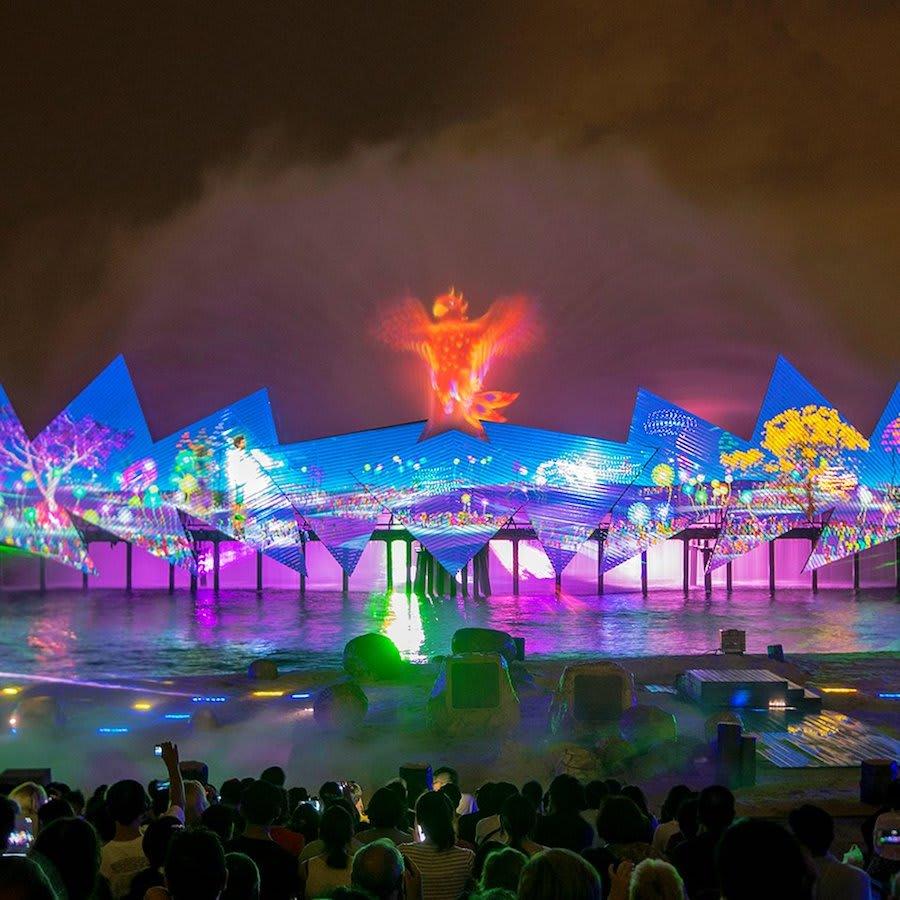 xem nhạc nước wings of time trong chuyến du lịch singapore 3 ngày 2 đêm