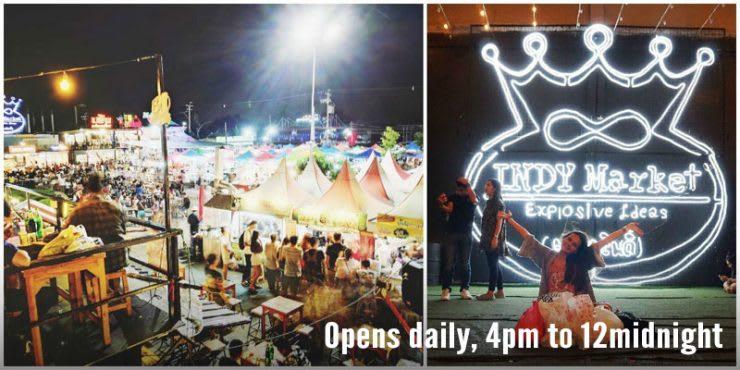 ghé chợ indy night market trong lịch trình du lịch thái lan dịp tết