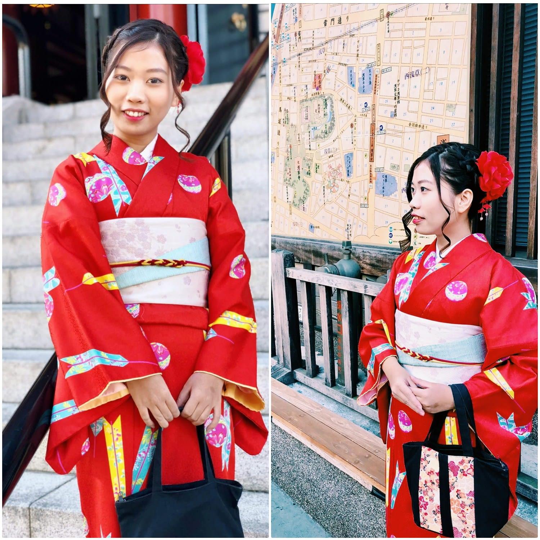 mặc kimono ở nhật bản: dạo quanh asakusa