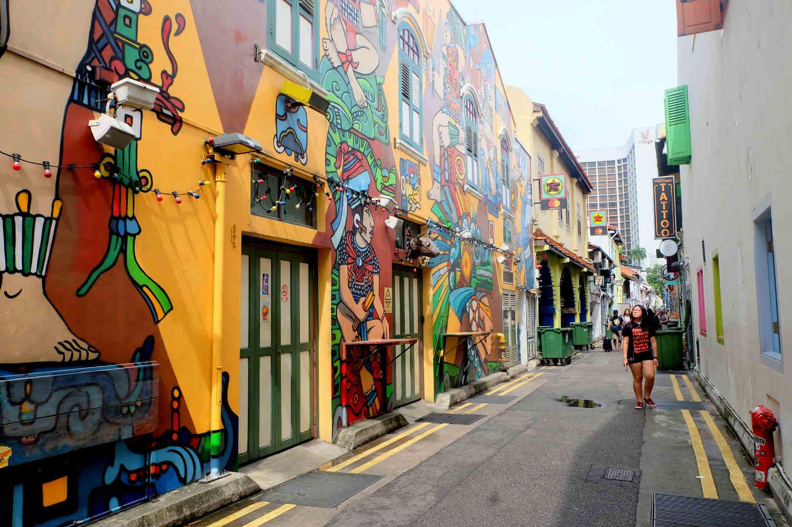 một mình ở singapore - haji lane