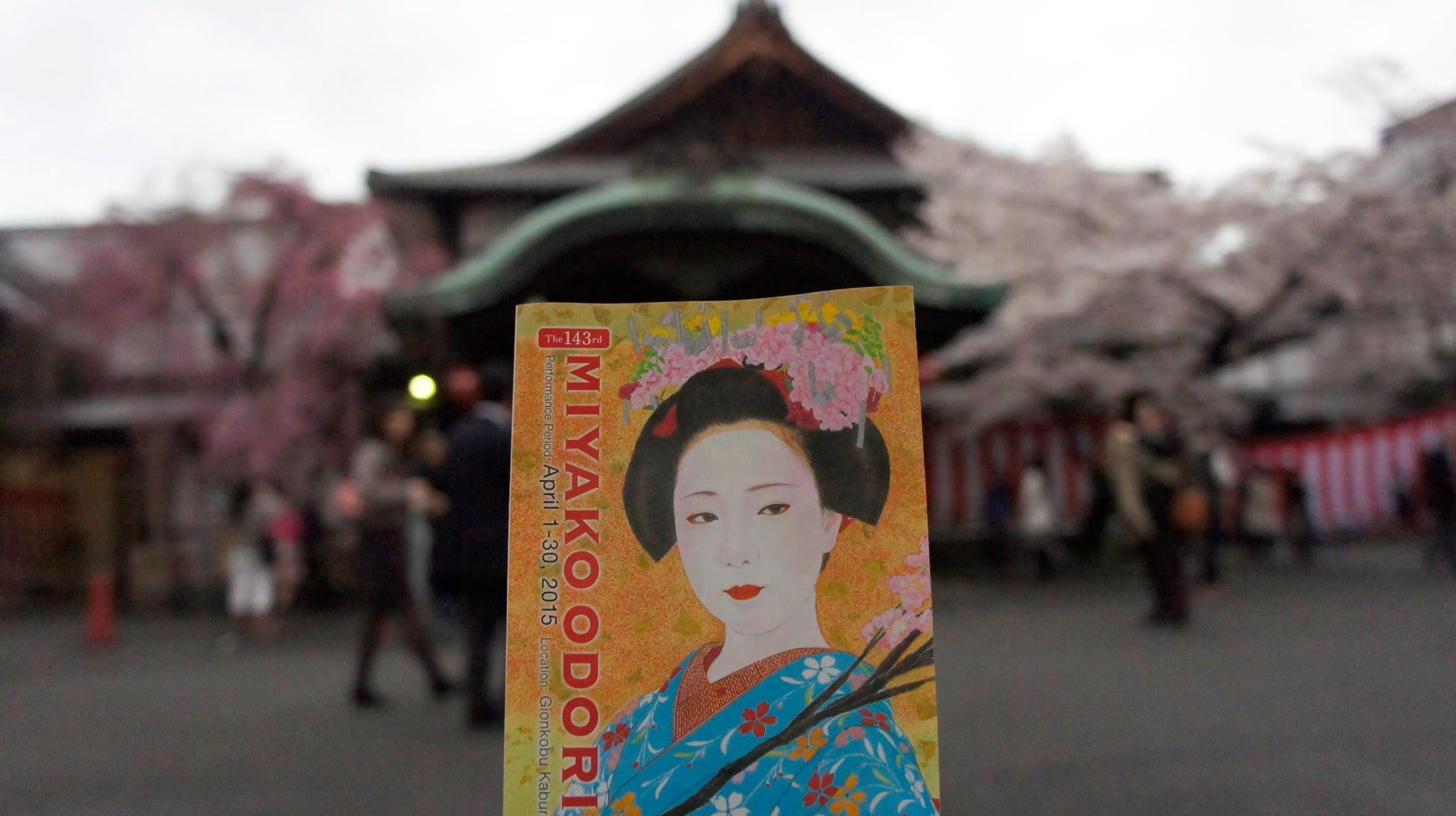 đừng quên xem miyako odori trong chuyến ngắm hoa anh đào