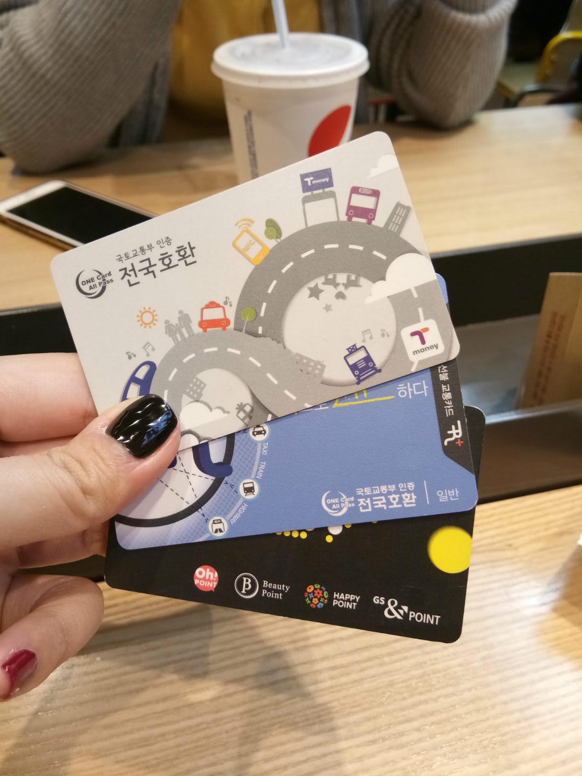 thẻ giao thông T-money trong chuyến du lịch tự túc hàn quốc