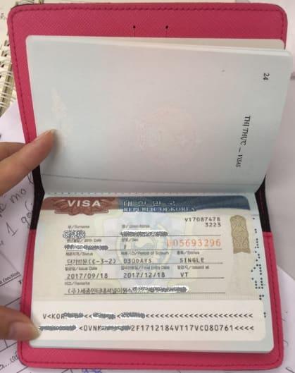 visa du lịch tự túc hàn quốc