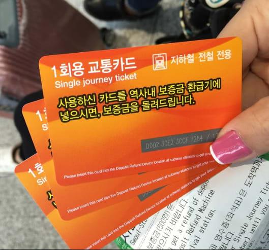thẻ tàu arex airport express trong chuyến du lịch tự túc hàn quốc