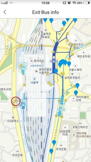 bản đồ seoul station cho chuyến du lịch tự túc hàn quốc