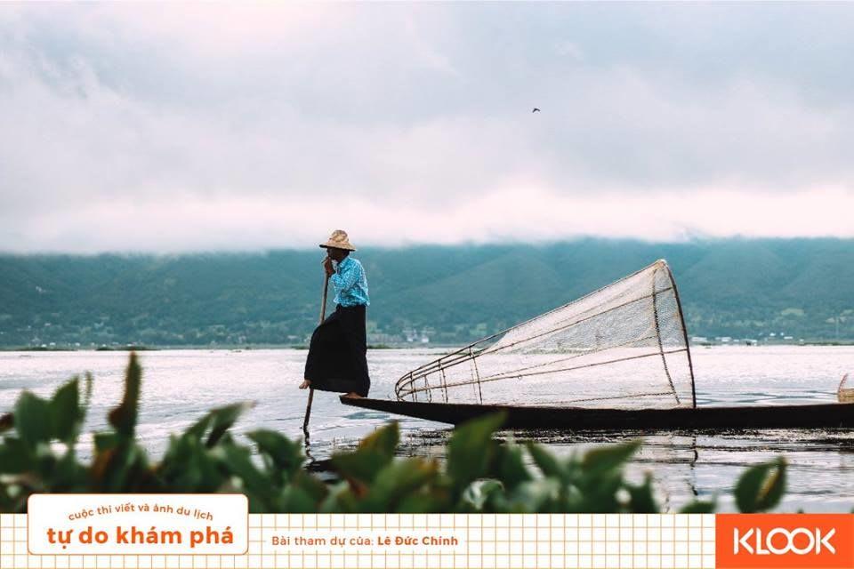người đánh cá buổi sáng trong chuyến du lịch Inle