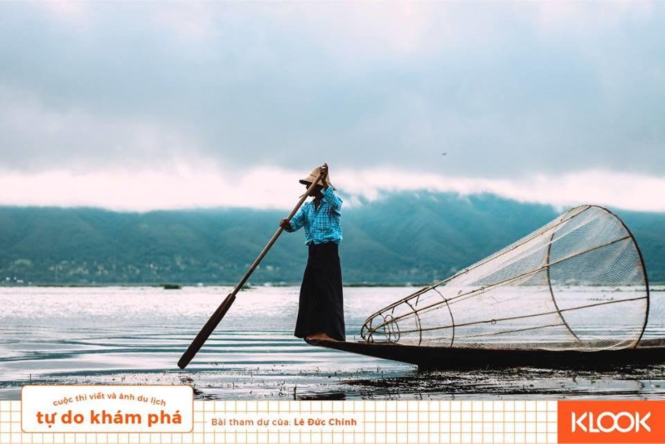 người đánh cá trong chuyến du lịch inle