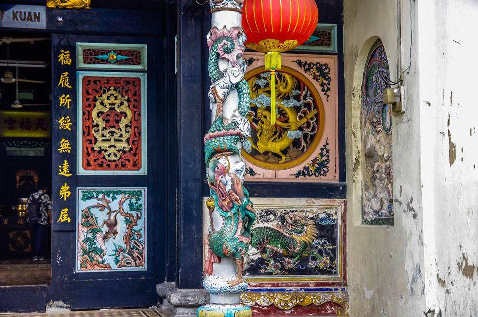du lịch malacca - kiến trúc người hoa của đền hokkien huay kuan