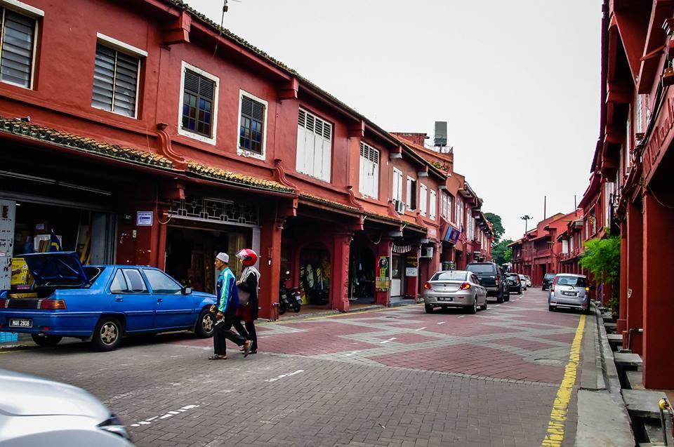 du lịch malacca - con đường màu đỏ đặc trưng
