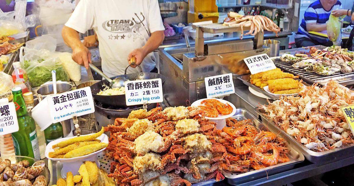 ẩm thực ở sỹ lâm, một trong những chợ đêm ở đài loan
